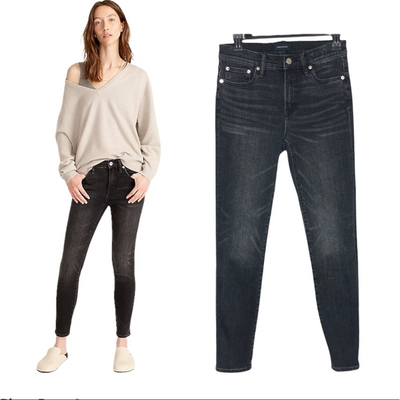 """J. Crew 9"""" High Rise Toothpick Jeans in Charcoal"""